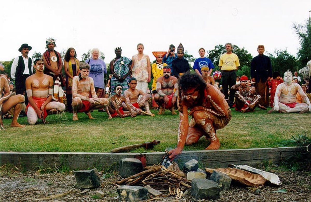Return Of The Sacred Kingfisher Festival 1999 Ian Fire Lighting