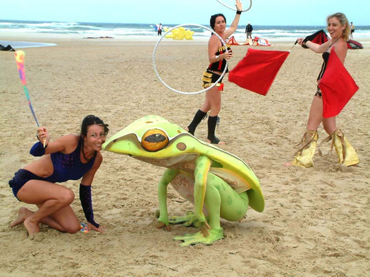 Street Theatre Frog On Beach