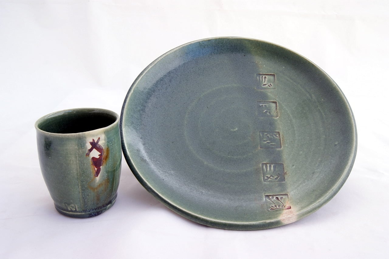 Handmade Ceramics Cup And Platter
